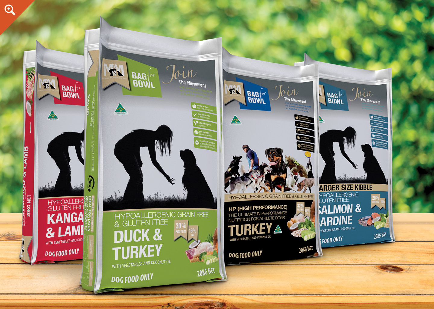 meals for mutts packaging design